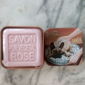 La Savonnerie Rose Soap in Metal Tin